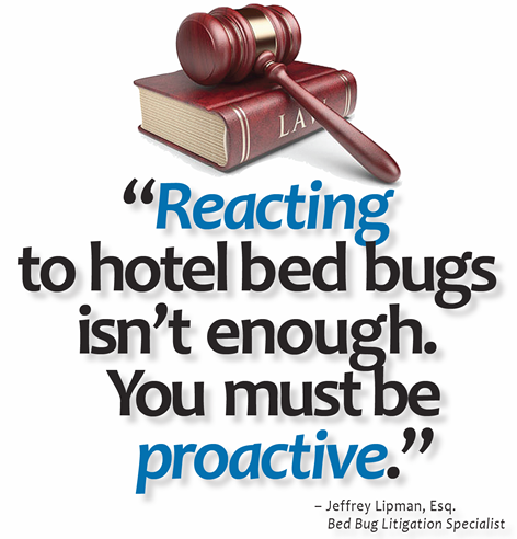 Hotels that adopt bed bug prevention legally protected for Bed bug litigation